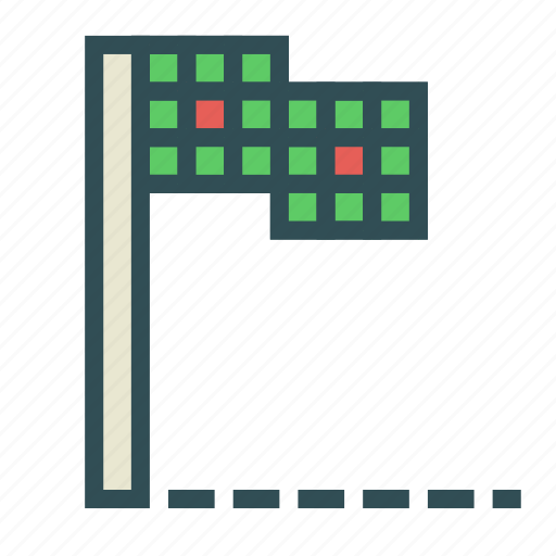 flag, light, pole, semaphore, sign icon