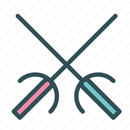 fence, fencing, sport, sword, training icon