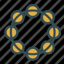 instrument, music, show, tambourine icon