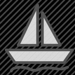 boat, ocean, sailing, sea, sport, water icon