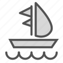 boat, fun, ocean, sailing, sea, water icon