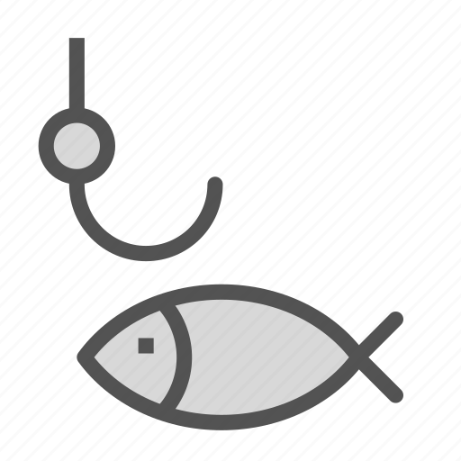 animal, fish, fishing, food, hook, sport icon