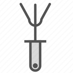 camping, cooking, fork, grill, tool icon
