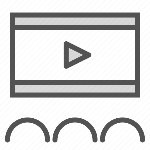 cinema, entertainment, media, movie, play, video icon