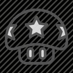 avatar, fantasy, game, mario, mushroom, play, star icon