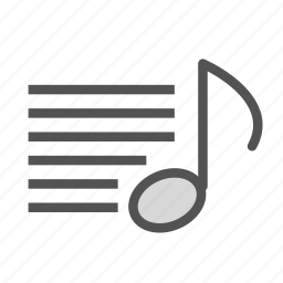 key, list, music, note, song, text icon