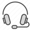 gaming, head, music, phones, play, set icon