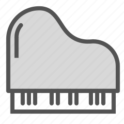 instrument, music, piano, show icon