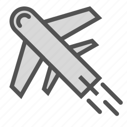 airplane, plane, transport, travel, vacation icon