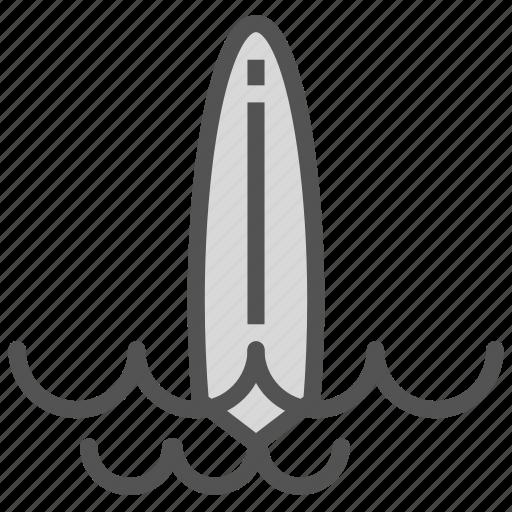 board, ocean, sea, sport, surf, training, water icon