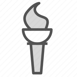 flame, olympics, sport, torch, tradition icon