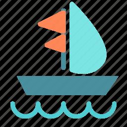 boat, fun, ocean, sailing, sea, water icon