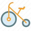 bike, bycicle, clown, fun, old, vintage icon