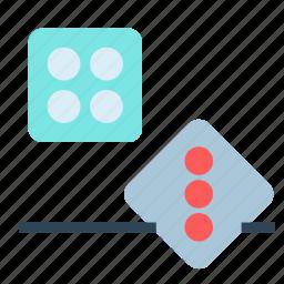 board, chance, dice, gambling, game icon