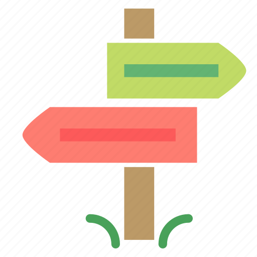 arrow, direction, marker, post, sign icon