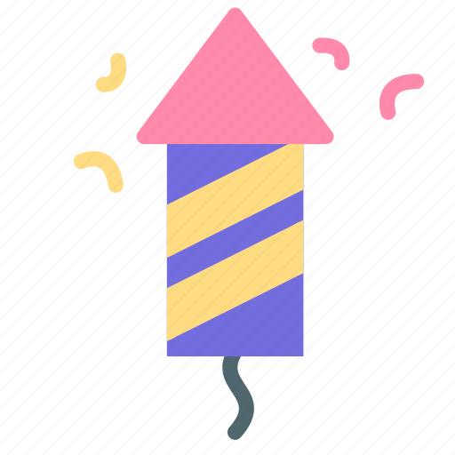 celebration, fireworks, newyear, part, rocket icon
