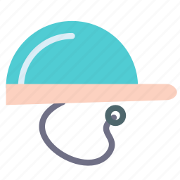 commentator, hat, head, microphone, referee icon