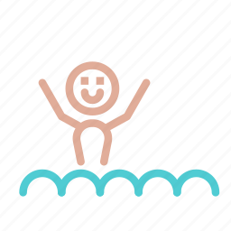 avatar, happy, man, ocean, sea, swim, water icon