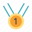 circle, first, medal, place, shape icon