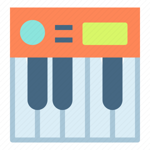 instrument, music, organ, piano, play icon