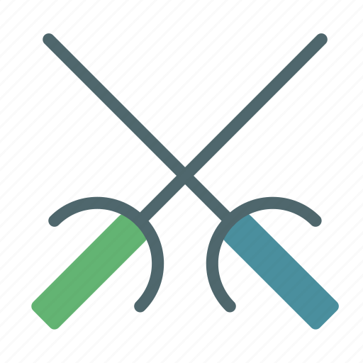 fence, fencing, sport, sword, training icon