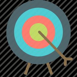 archery, arrow, bow, bullseye, fun, sport, target icon
