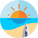 activities, beach, sea, sunny, surfer, surfing icon