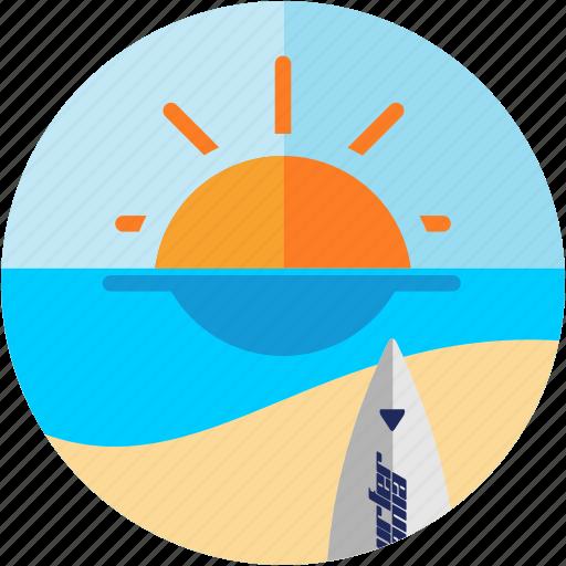 activities, beach, sea, sunny, surfer, surfing icon