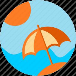 activities, beach, relaxation, sunny icon
