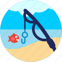 activities, fish, fishing, rod icon