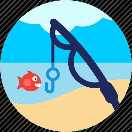 activities, fish, fishing, rod icon