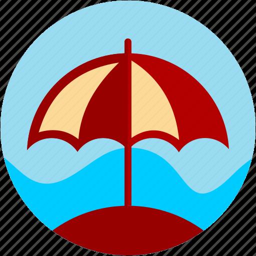 activities, beach, relaxation, umbrella icon