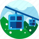 activities, alps, mountains, teleferic icon