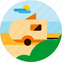 activities, camping, outdoor, rv icon