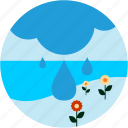 eco, enviroment, flowers, rain, sea icon