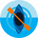 activities, kayak, kayaking, watersports icon