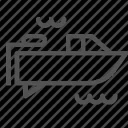 boat, fishing, ocean, sea, submarine, transport, travel icon