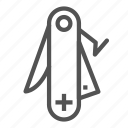 equipment, knife, swiss, tool icon