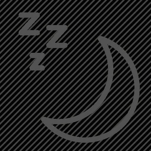 moon, night, planet, sleep, space icon