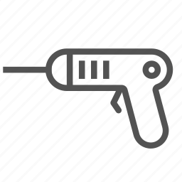 construction, drill, pistol, tool, work icon