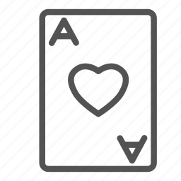 ace, card, game, heart, play, poker icon