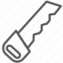 construction, equipment, saw, tool icon