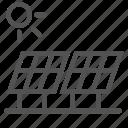 eco, energy, panel, solar, sun icon