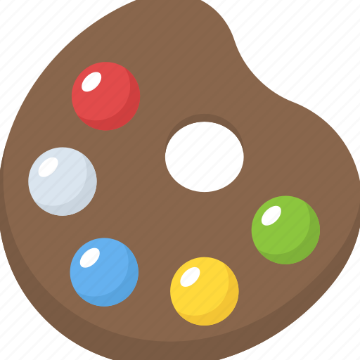 artist palette, painting, painting equipment, painting palette, painting tool icon