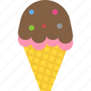 frozen food, gelato, ice cream, ice cream cone, sundae icon
