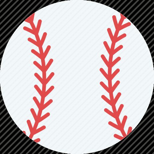 ball, baseball, cricket ball, hard ball, sports equipment icon