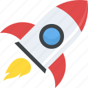 flying rocket, rocket, rocket launch, space exploration, spaceship icon