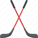 hockey sticks, ice hockey, olympic sports, team sports, winter sports icon