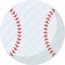 ball, baseball, cricket ball, hard ball, sports equipment icon