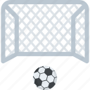 football goal post, football net, soccer goal, soccer net, soccer set icon